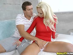 Soon after arriving, Ramon worked his magic and then went balls deep in Olivia`s pretty pussy. He fucked her all over the place and then shot his load, with pinpoint accuracy on her left eye.